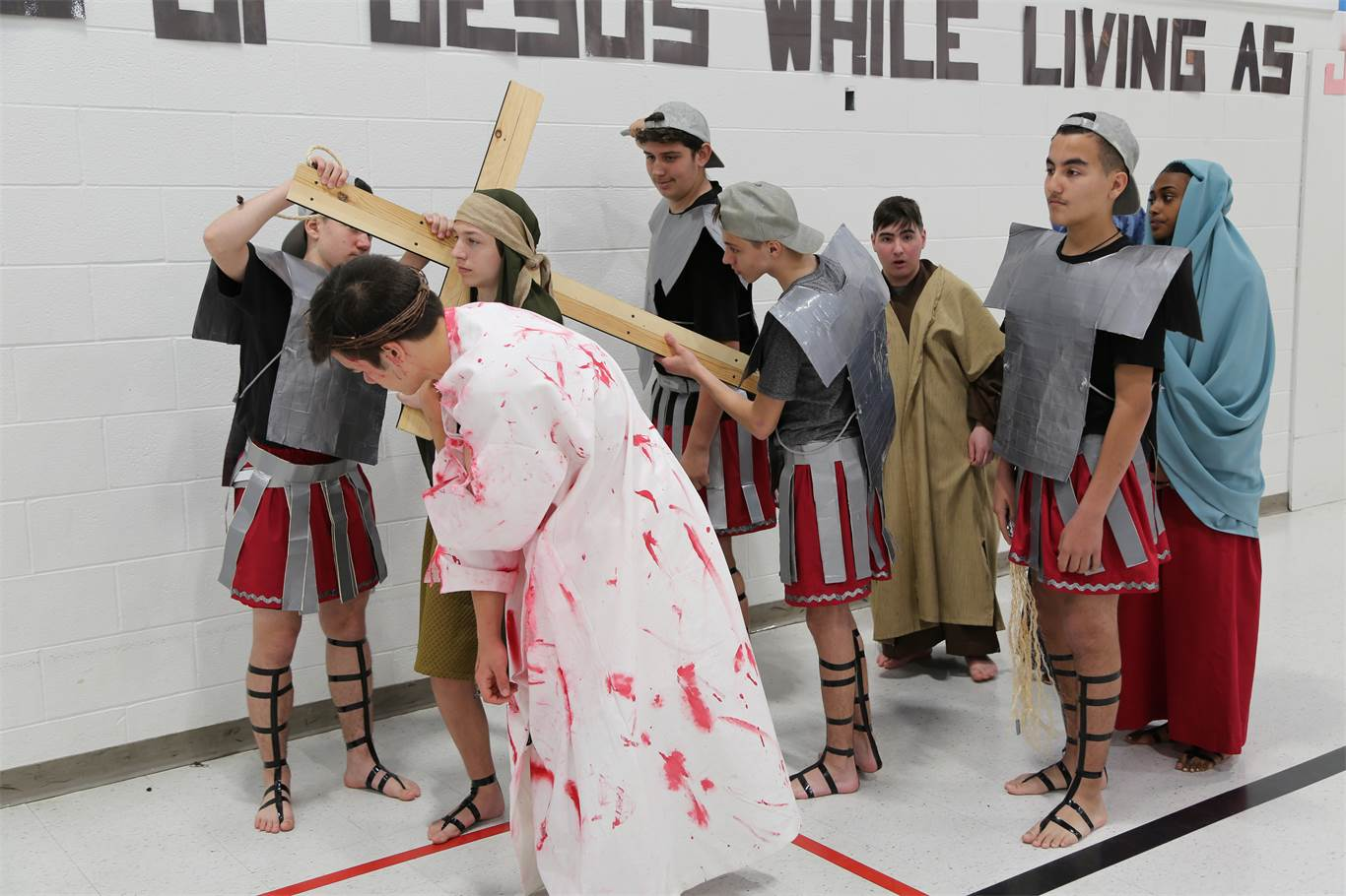 St. Marguerite d'Youville's Passion Play performance serves as a reminder of Jesus' love
